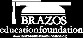 Brazos Education Foundation Logo in White