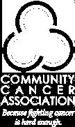 Community Cancer Association Logo in White