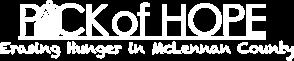 Pack of Hope Logo in White