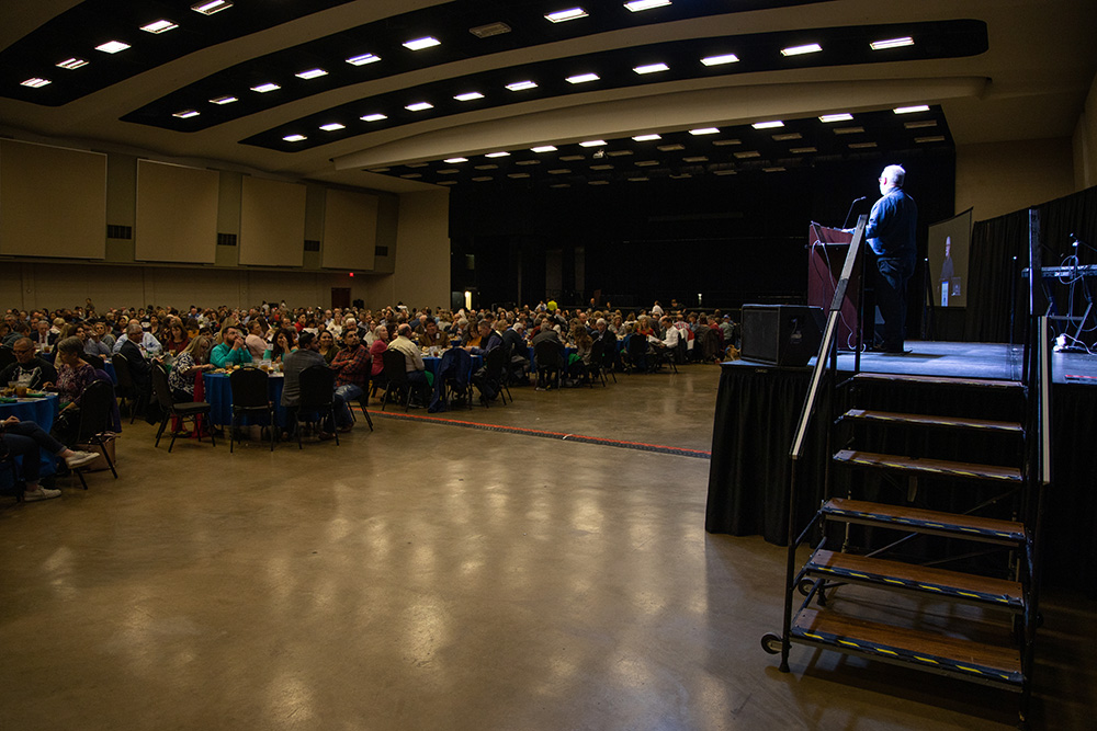 mission waco's founder speaking to the banquet