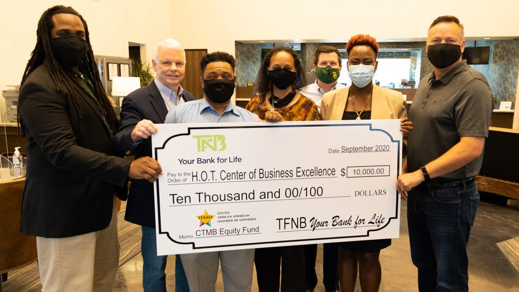 minority owned business check presentation
