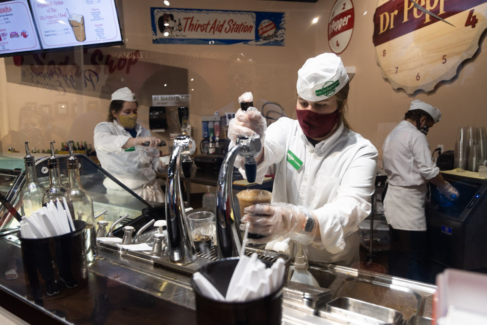 soda jerk at the dr pepper museum