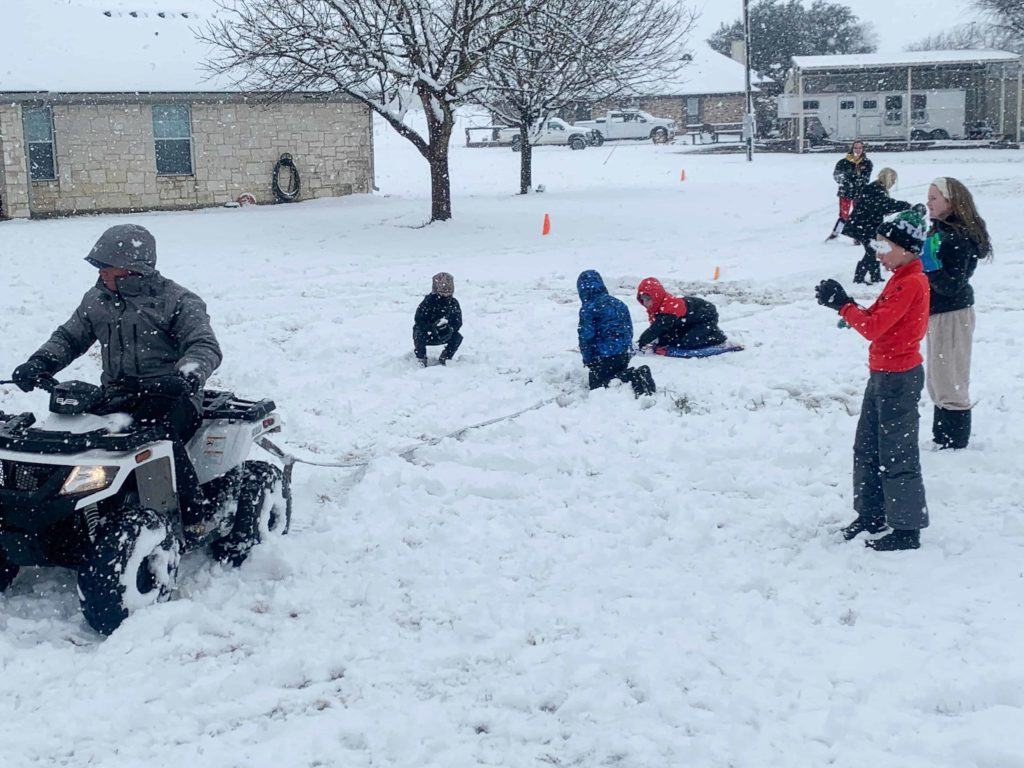 pulling sled with four wheeler