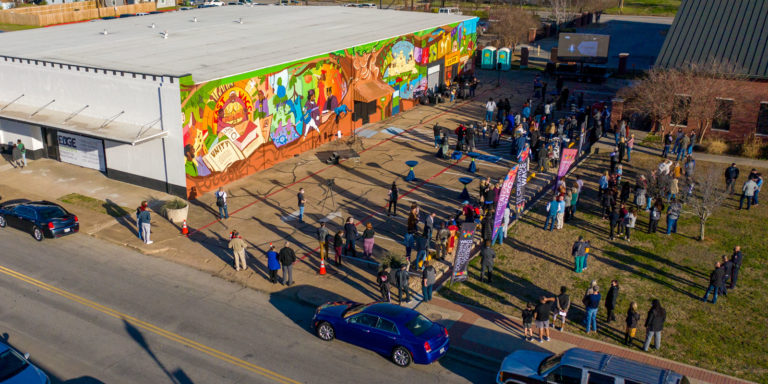 tree of life mural unveiling