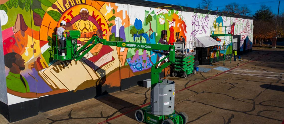 the tree of life mural on our east waco location